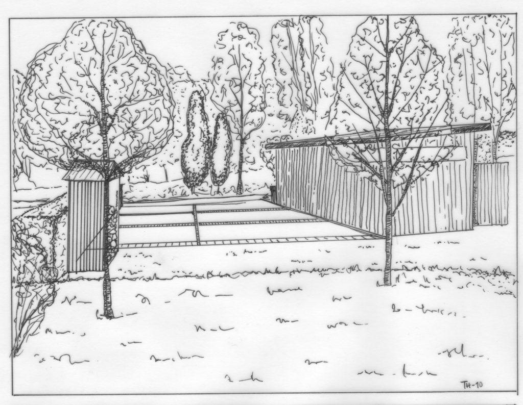 uppfart, parkering, Trädgårdsdesign, Trädgårdsarkitektur