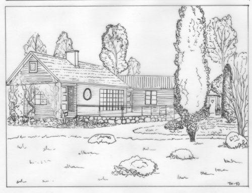 Uteplats, Trädgårdsarkitektur, stenmur, Trädgårdsdesign