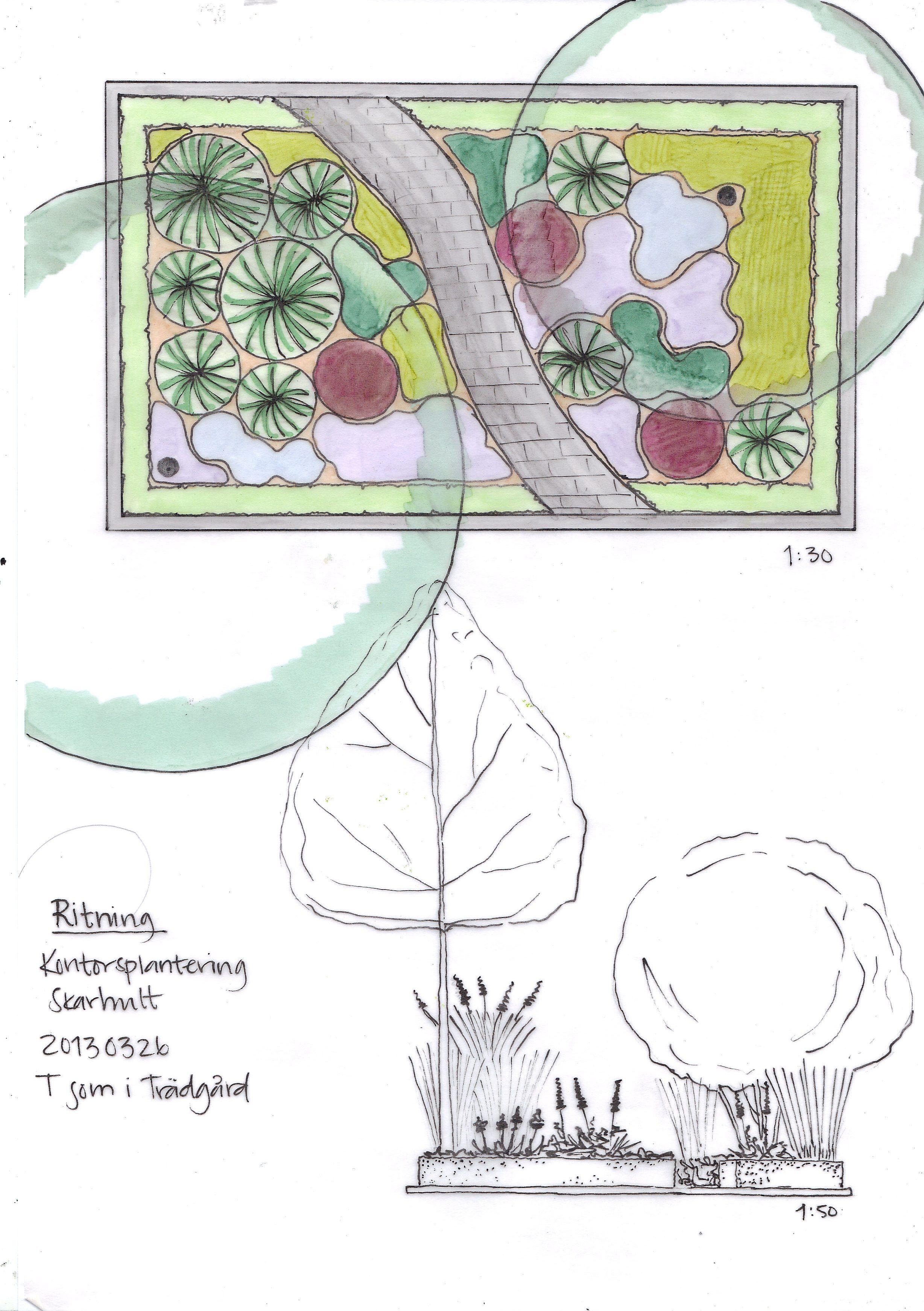Trädgårdsdesign, Trädgårdsarkitektur, Företagsentré, entréträdgård