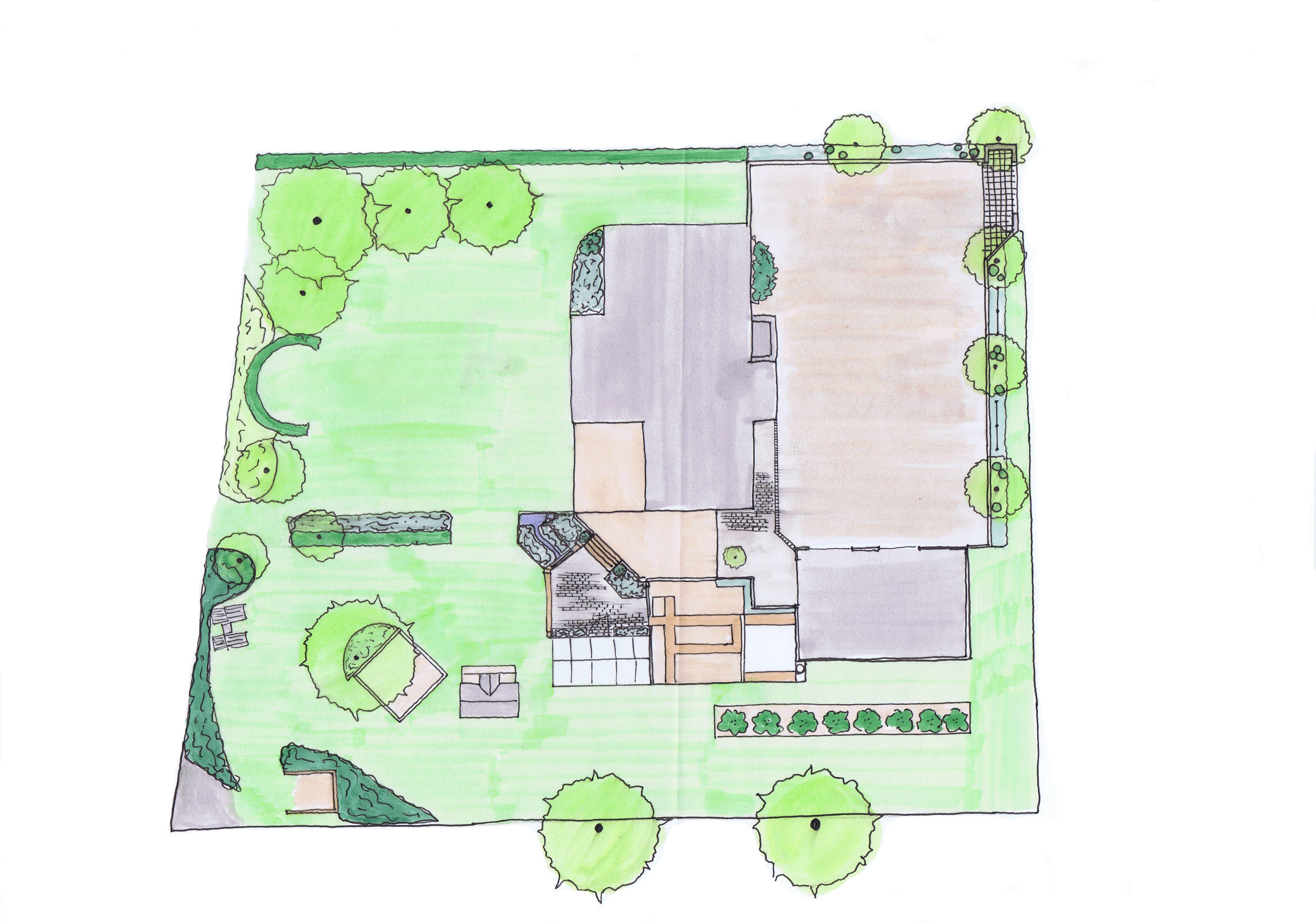 Trädgårdsdesign, villaträdgård, barnträdgård, Trädgårdsarkitektur
