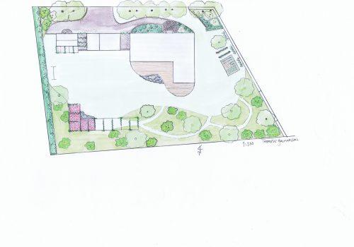 Trädgårdsdesign, Trädgårdsarkitektur, Trädäck, Ängsträdgård