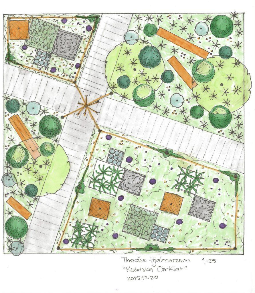 ritning, skiss, trädgårdsingenjör, landskapsarkitekt