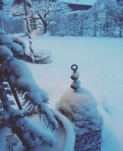 vinter, julledigt, trädgårdsdesign, trädgårdsarkitektur, snö